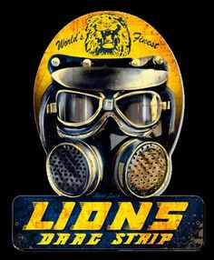 Lions Drag Strip Helmet Sign