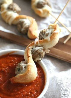 Meatball Subs on a Stick #appetizer #kebab