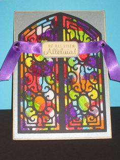 stained glass Easter card - Cricut Ornamental Iron