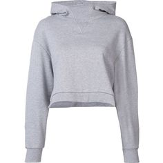 Miharayasuhiro cropped hoodie (1.093.300 COP) ❤ liked on Polyvore featuring tops, hoodies, shirts, grey, hooded sweatshirt, grey hoodies, sweatshirt hoodies, hooded pullover and cotton hooded sweatshirt