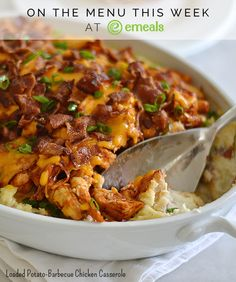 Loaded Potato-Barbecue Chicken Casserole. Need we say more?