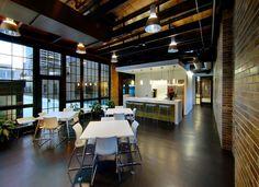 contemporary office interior design sealed concrete - Google Search