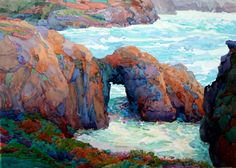 "Robin Purcell (Born 1956), ""Point Lobos Arche"""