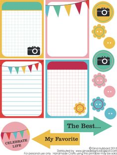Free look on the bright side... Journal Cards