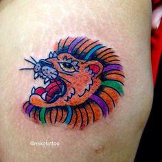 #lion #tattoo #タトゥー #tattoo #reikotattoo #studiokeen #japan #nagoyatattoo #tokyotattoo #名古屋 #大須 #矢場町 #東京 #静岡