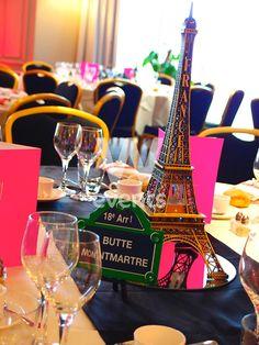 Le détail se pousse jusqu'à la décoration des tables pour célébrer l'arrivée des collaborateurs québecois à Paris pour leur incentive en France