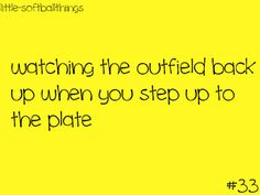 Or when they shift cuz I'm a lefty and.I hit it where they were LOL  :) best feeling ever #softball