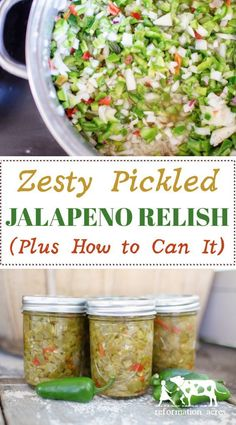 This stuff is SO good- My new favorite way to preserve jalapeno peppers! How to … This stuff is SO good- My new favorite way to preserve jalapeno peppers! How to Make & Can Zesty Pickled Jalapeño Relish Pickled Jalapeno Relish Recipe, Relish Recipes, Jalapeno Recipes, Canning Recipes, Canning Tips, Tuna Recipes, Recipes With Jalapenos, Canning Jalapeno Peppers, Pickles Recipe