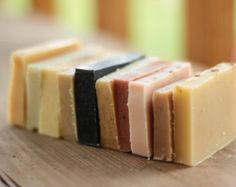 One of Each--Sample Soaps, 10 bars, artisan, essential oil, cold processed, real soaps
