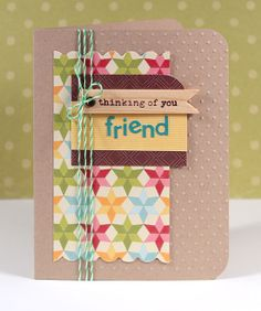 Thinking of You Friend Card - Kristina Werner Cool Cards, Diy Cards, Cards For Friends, Friend Cards, Friendship Cards, Card Making Inspiration, Pretty Cards, Card Sketches, Copics