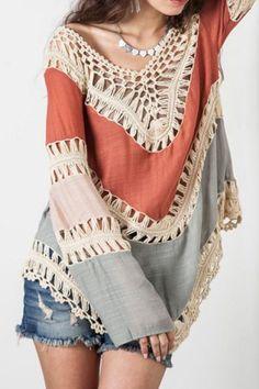 Asymmetrical boho blouse