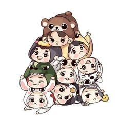 Image uploaded by Yanki. Find images and videos about kpop, exo and baekhyun on We Heart It - the app to get lost in what you love. Kaisoo, Baekhyun, Chanbaek, Chibi Exo, Exo Fanart, Exo Cartoon, Cartoon Drawings, Exo Stickers, Exo Anime
