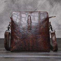 36d8f6bb3127 Man-Shoulder-Hand-bags-Genuine-Cow-Leather-Crocodile-