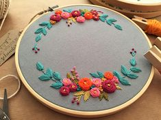 This hand embroidery hoop is perfect for home decoration or for a gift. Also this custom embroidery is a very nice choice as an anniversary gift or wedding gift. This embroidery hoop is my hand drawing and this floral embroidery is completely hand embroidery. The fabric of this
