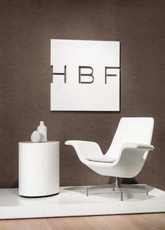 HBF Dialogue Chair and Oval Egg Table, classically represent HBF!