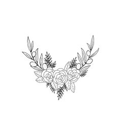 Tattoo / Olive branches with roses