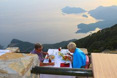 Spend the unforgettable romantic evening having sunset dinner at Babadag Mountain restaurant in Fethiye Turkey. Turkey Holidays, Holiday Places, Romantic Evening, In This World, Europe, Lineage, Restaurant, Activities, Explore