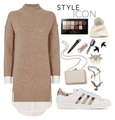 """Untitled #162"" by ihottestpm ❤ liked on Polyvore featuring Brochu Walker, adidas Originals, Maybelline, Kayu and SIJJL"