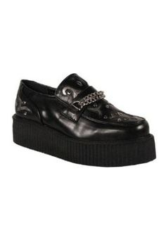 109a00db5e9 Men s Demonia V CREEPER 509 Chained Sneakers BLACK 7 M Pleaser.  21.95  Loafer Shoes