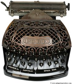 Antique Typewriters - The Martin Howard Collection: Ford
