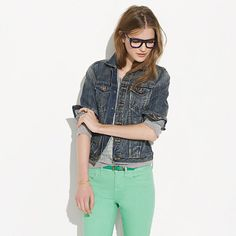 """Still searching for """"the one...."""" (denim jacket)   Madewell - The Jean Jacket in Storm Cloud Wash"""