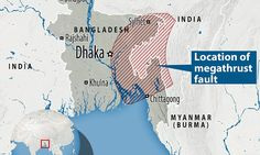 Giant fault discovered under Bangladesh crust that could wipe out millions Earthquake Fault Lines, Earthquake And Tsunami, Earth Quake, Going Insane, Wipe Out, Hard Truth, Continents, Mail Online, Daily Mail