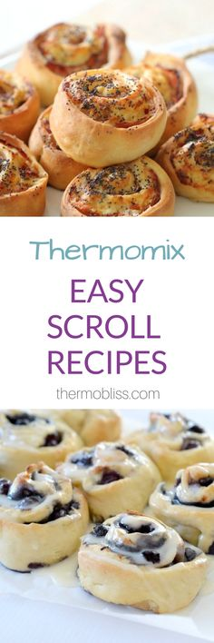 I've put together this Thermomix Scroll Recipes collection to help give you some inspiration when it comes to making this easy and versatile treat. Belini Recipe, Scrolls Recipe, Thermomix Bread, Spagetti Recipe, Szechuan Recipes, Radish Recipes, Cantaloupe Recipes, Quiche, Recipes