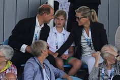On a busy day for royals at the games, Edward and Sophie were seen chatting to their daughter during the women's hockey match