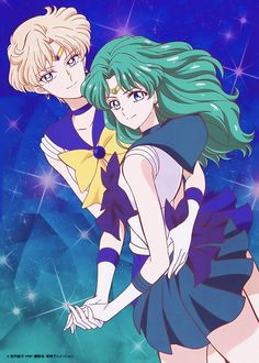 Sailor Moon Crystal | Haruka Tenoh and Michiru Kaioh - Sailor Uranus and Sailor Neptune