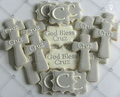 One Dozen (12) Girl or Boy Personalized Decorated Sugar Cookies For Baptism Communion Confirmation