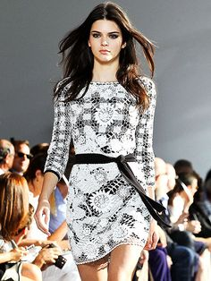 All the Stars at Fashion Week | KENDALL JENNER | She's walked Paris and she's walked New York Fall, but this moment on the Diane von Furstenberg runway marks the model's debut at a NYFW Spring show. It also marks the first time she's walked a show with Naomi Campbell (see: next slide!).