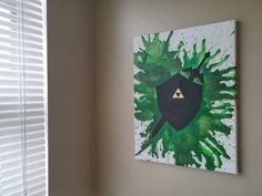 Legend of Zelda Melted Crayon Canvas by ExplosionsInColor on Etsy, custom orders are accepted too!