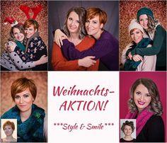 Style & Smile WEIHNACHTSAKTION!  Du bist auf der Suche nach dem perfekten Weihnachtsgeschenk für deine Lieben? Dann haben wir vielleicht genau das Richtige für dich!   NEU: Frisörsalon und Fotostudio in EINEM!!  Ob ein Portrait von dir mit deiner besten Freundin oder mit der ganzen Familie! Stylistin Jules sorgt für ein tolles Make-up & Hairstyling und danach gehts ab zu Kacy ins Fotostudio!  Tolles Kombi-Kennenlernangebot schon ab 190- Euro!   Gleich zuschnappen und Termin sichern!  Wann…