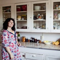 vintage glass kitchen cabinets