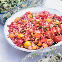 Tomaten-granaatappelsalade - Powered by @ultimaterecipe