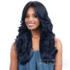 Freetress Equal Lace Front Wig Deep Invisible Part - MACKENZIE (futura) [10101]
