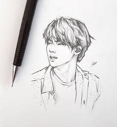 Whose agree with me that Seokjin looks d**n hot when he done a cool pose without his signature smile. Fanart by --- Seokjin nggak perlu senyum, saya sudah puas 🤤 Fanart oleh --- Repost . Bts Jin, Kpop Drawings, Art Drawings Sketches, Fanart Bts, Film Disney, Art Sketchbook, Art Inspo, Art Reference, Fan Art