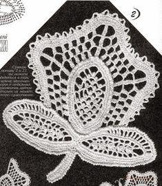 Crochet: Irish lace 2 Freeform Crochet, Irish Crochet, Crochet Motif, Crochet Flowers, Crochet Lace, Crochet Diagram, Crochet Cardigan, Crochet Shawl, Fillet Crochet