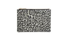 Leopard Snake Small Clutch, Ivory | WHISTLES