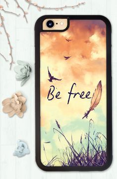 iPhone 6 Case, Iphone 6S Case, Iphone 6S Plus Case, Phone Case, Inspirational Quote, Birds, Tattoo, Feather Tattoo