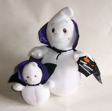 Hallmark Cards Plush Count Ghostulas 12 Inch and 6 Inch Halloween Plush Ghosts