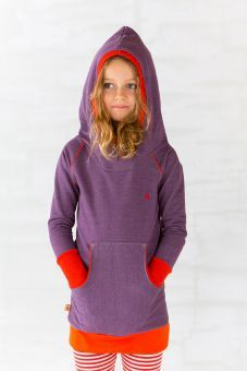 AlbaBabY Doy Long Hoodie Dress purple