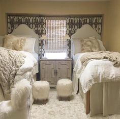 Glam dorm room anyone? Design by White Bungalow