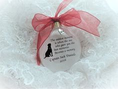 Pet Memorial Christmas Ornament, The Saddest Moment, Free Personalization and Charm Homemade Christmas, Christmas Crafts, Christmas Ornaments, Xmas Baubles, M M Candy, Holiday Boutique, Memorial Ornaments, Pet Memorials, How To Make Ornaments