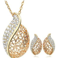 FREE! Ol Hollow Earrings & Necklace Classic two Piece Set