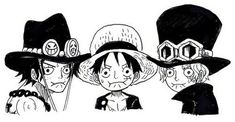 Ace, Sabo,and Luffy One Piece Manga, One Piece Fan Art, Ace One Piece, One Piece Funny, Manga Anime, Ace Sabo Luffy, One Piece Pictures, Face Pictures, Profile Pictures