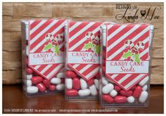Tic Tac Candy Cane Seeds - Printable tic tac labels that you attach to a pack of tic tacs! They make perfect Christmas or Winter Holiday gifts.