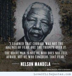 Nelson Mandela quote on courage
