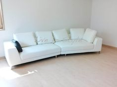 Leather Sofa - Max 6029 in white