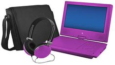 """9"""" Portable DVD Player with Swivel Screen"""